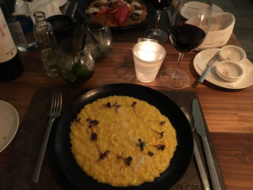 saffransrisotto och hummerrisotto på Café Crudo