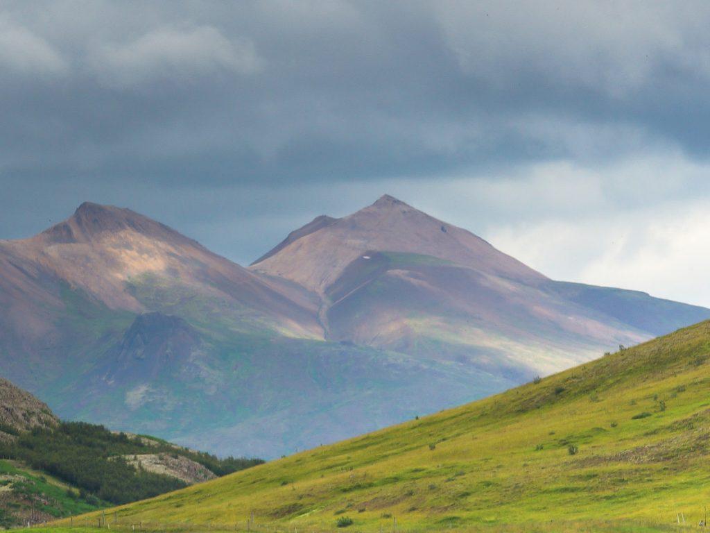 Utsikt över berg på Island